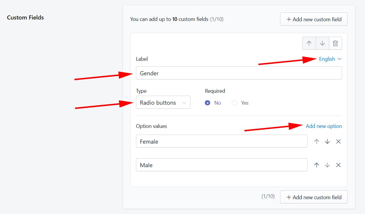 Add custom field example