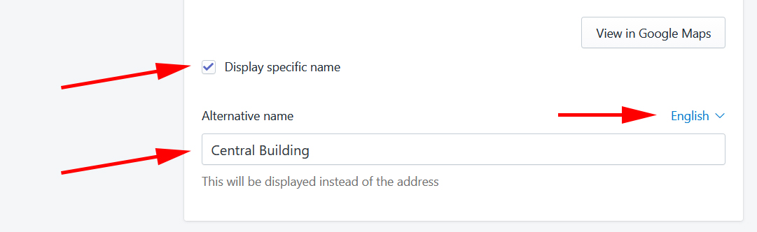 Display specific name example